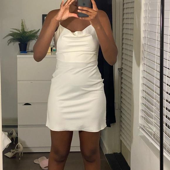Urban Outfitters White Satin Slip Dress